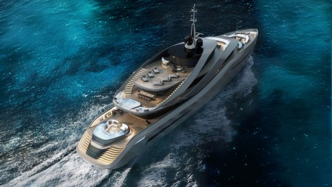 'Aurea' Revealed. A Rossinavi and Pininfarina Luxury Yacht Concept