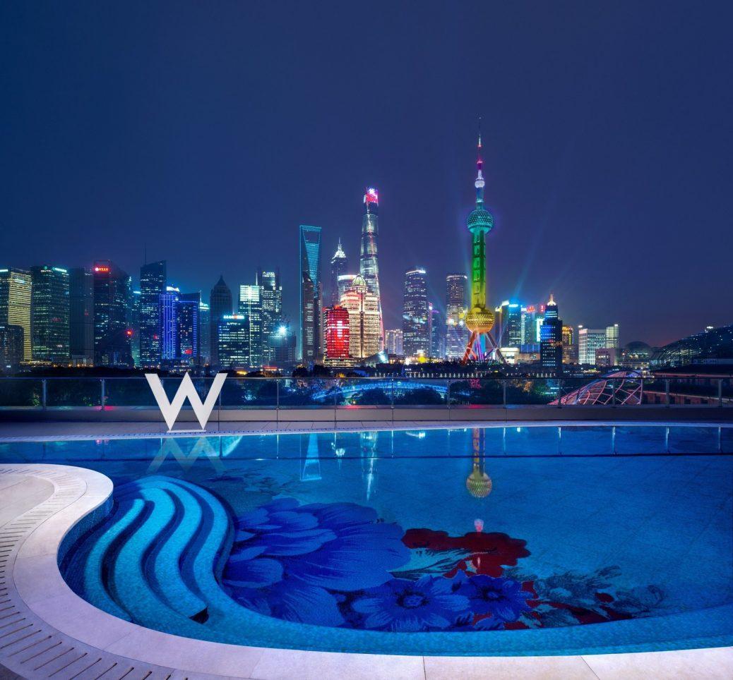 New Shanghai Skyline With The W Shanghai-The Bund