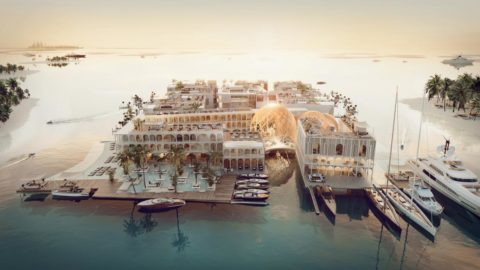 The world's first underwater luxury vessel resort. The Floating Venice.