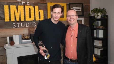 Bill Skarsgård Receives the IMDb STARmeter Award at the 2018 Sundance Film Festival