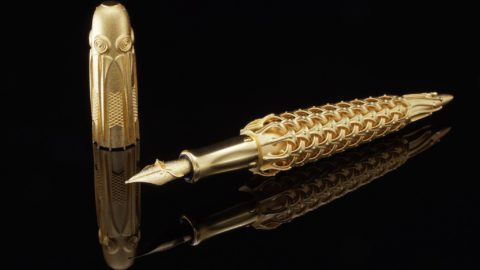 World's First 3D Printed 18K Solid Gold Fountain Pen