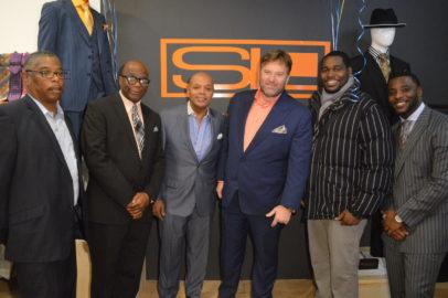 Steven Land and Leeny Green Teams At Harlem Pop Up Shop Opening
