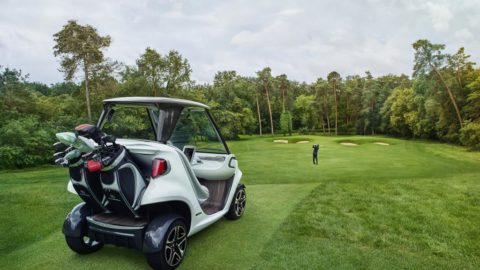 The golf car that takes cues from Mercedes-Benz' aesthetic and class