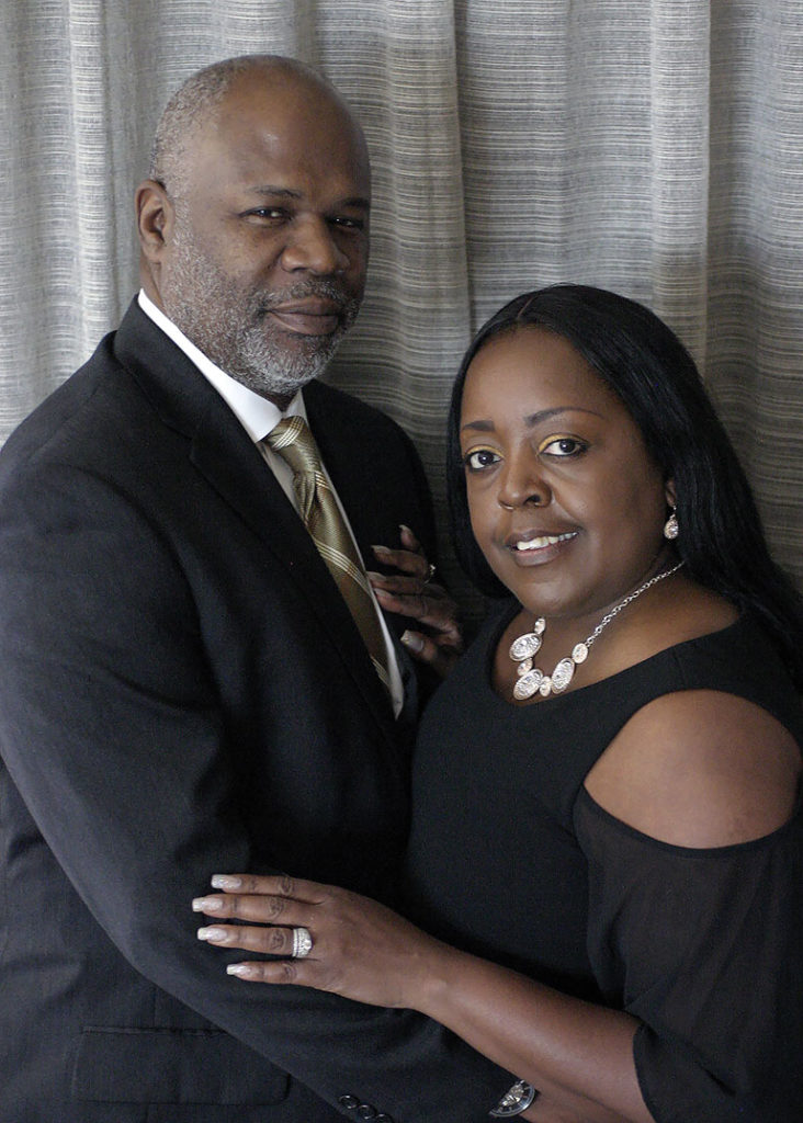 Adrian S. Johnson with his wife Zelda Johnson