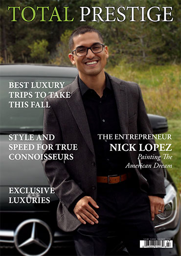 TOTALPRESTIGE MAGAZINE - On cover Nick Lopez