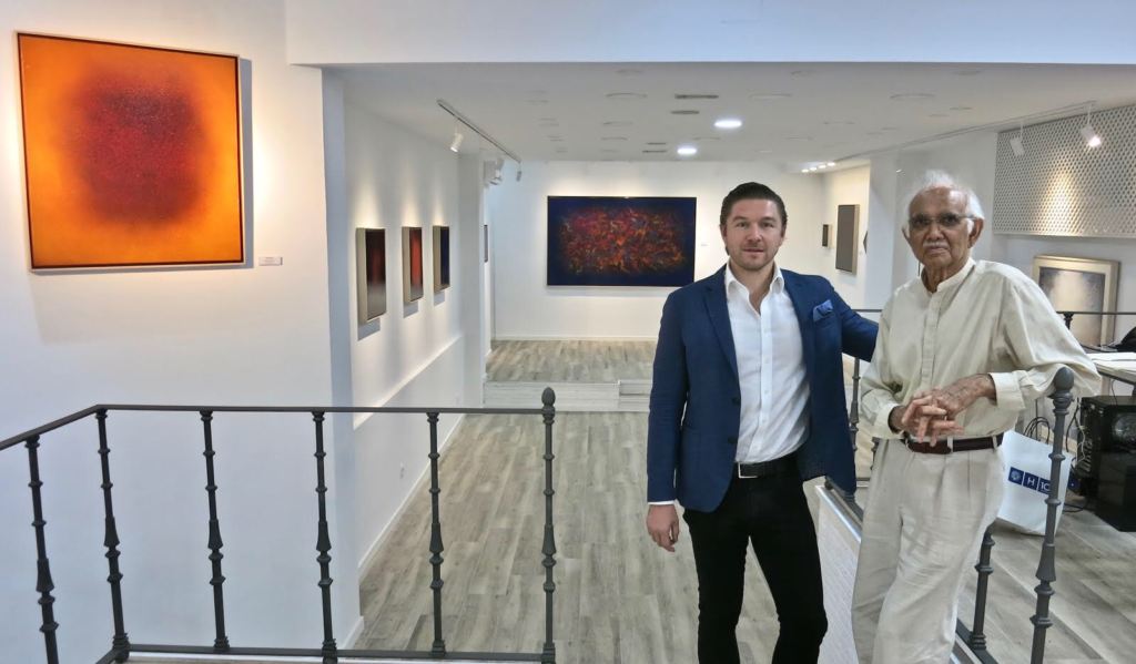 Philippe Hoerle-Guggenheim and Natvar Bhavsar at HG Contemporary Madrid