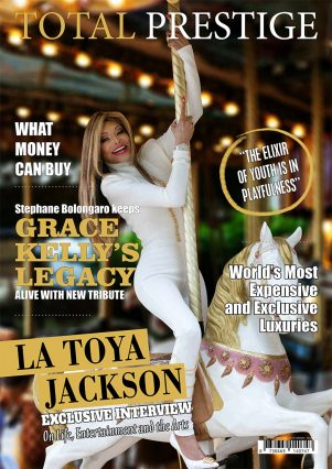 TOTALPRESTIGE MAGAZINE - On cover La Toya Jackson