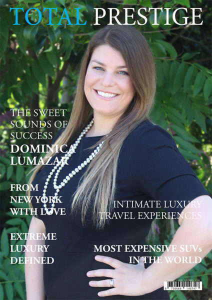 TOTALPRESTIGE MAGAZINE - On cover Dominica Lumazar