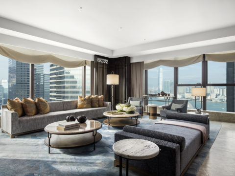 St. Regis Hong Kong, Presidential Suite, Living Room, Harbour View