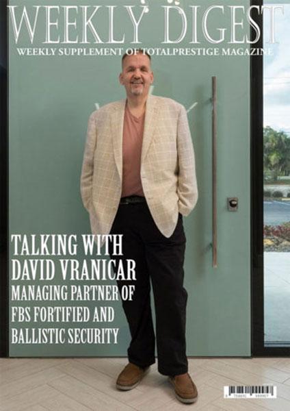 On cover David Vranicar