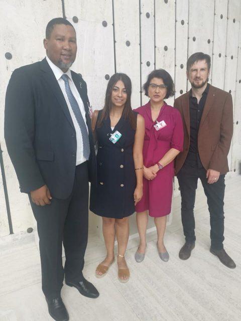 With Lema Nazeeh, Sawsan Zaher and Seán Mac Raghnaill.