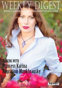 On cover Princess Karina Bagration-Moukhransky