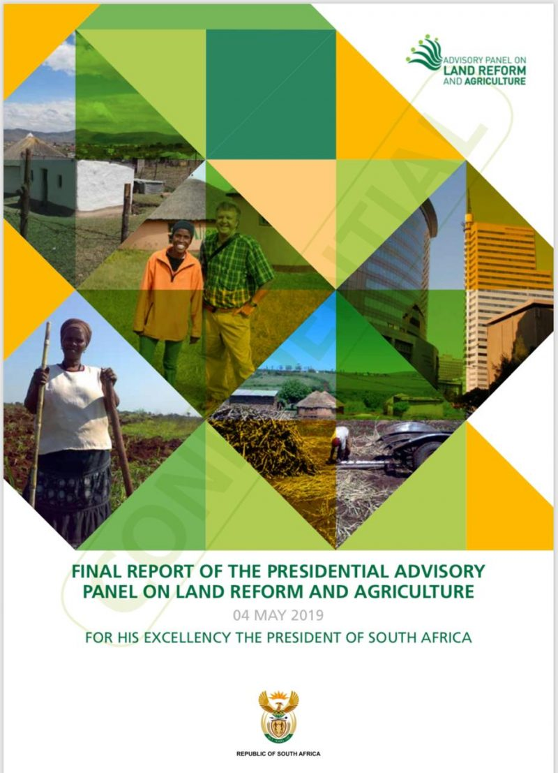 Report by the Presidential Expert Advisory Panel on Land Reform and Agriculture