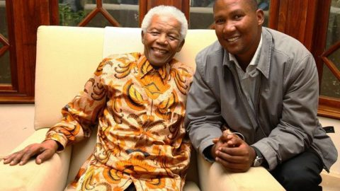 Chief Mandela with his grand-father, the late former South African president Nelson Mandela