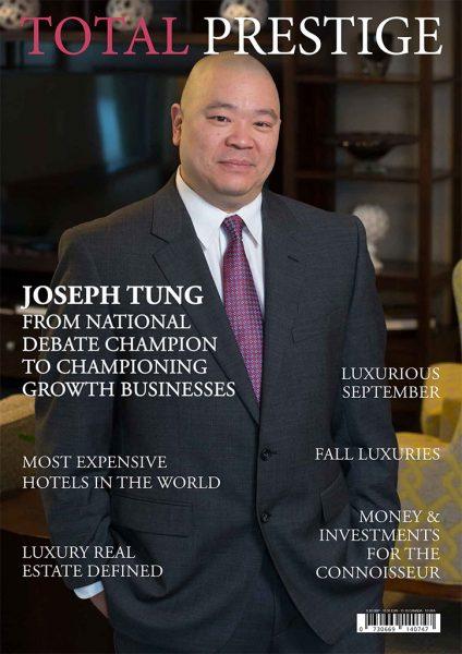 TOTALPRESTIGE MAGAZINE - On cover Joseph Tung