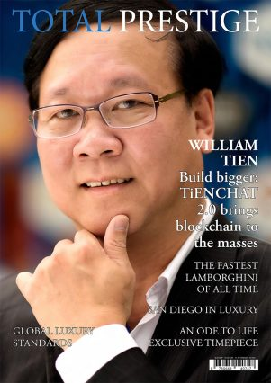 TOTALPRESTIGE MAGAZINE - On cover William Tien
