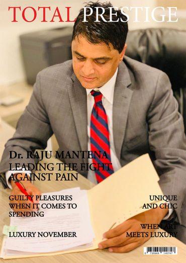 TOTALPRESTIGE MAGAZINE - On cover Dr. Raju Mantena