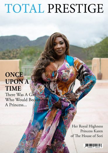 TOTALPRESTIGE MAGAZINE - On cover Princess Karen of the House of Sori
