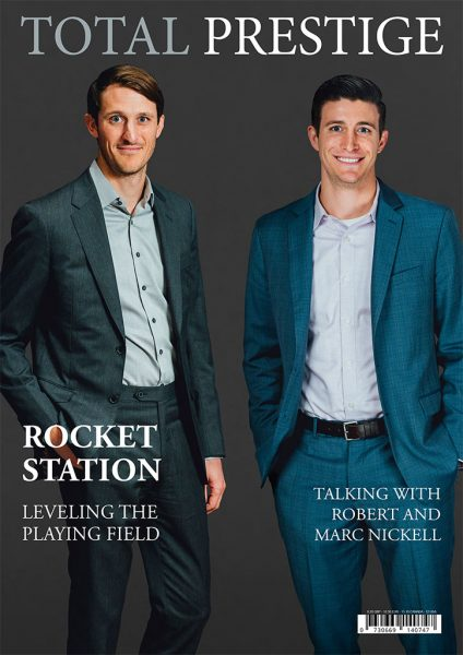 TOTALPRESTIGE MAGAZINE - On cover Robert and Marc Nickell