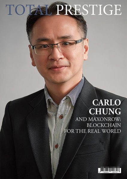 TOTALPRESTIGE MAGAZINE - On cover Carlo Chung - MAXONROW