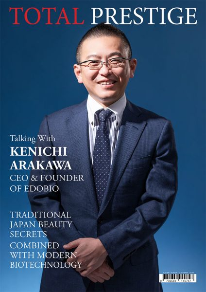 TOTALPRESTIGE MAGAZINE - On cover Kenichi Arakawa