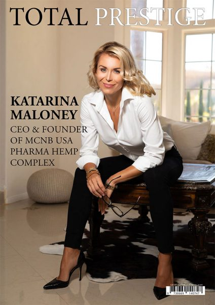 TOTALPRESTIGE MAGAZINE - On cover Katarina Maloney