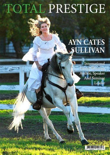 TOTALPRESTIGE MAGAZINE - On cover Ayn Cates Sullivan