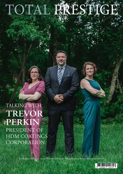 TOTALPRESTIGE MAGAZINE - On cover Trevor Perkin