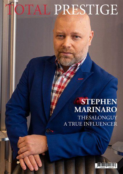 TOTALPRESTIGE MAGAZINE - On cover Stephen Marinaro