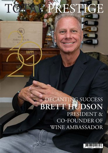 TOTALPRESTIGE MAGAZINE - On cover Brett Hudson