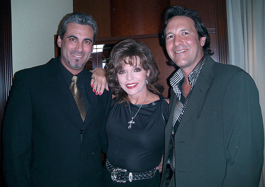 Alan, Joan Collins and her husband Percy Gibson in Berlin for the Golden Bear Awards.Feb.2005 Photo Courtesy of Dame Joan Collins