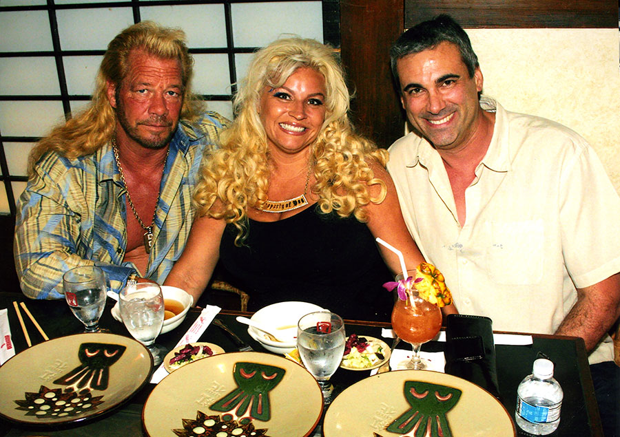 Dog the Bounty Hunter, Wife Beth and Alan at Benihana Honolulu