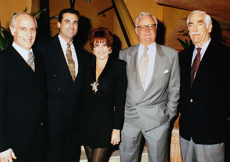 London Book Fair 1999. Joel Gotler. Nevins. Lorna Luft. Author Larry Collins. Author Don Wolfe