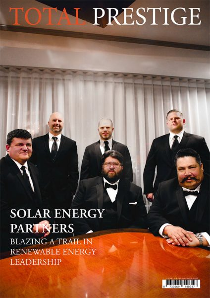 TOTALPRESTIGE MAGAZINE - On cover Solar Energy Partners