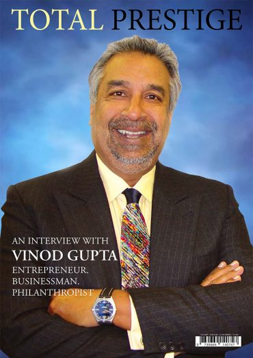TOTALPRESTIGE MAGAZINE - On cover Vinod Gupta