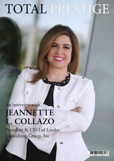 TOTALPRESTIGE MAGAZINE - On cover Jeannette L. Collazo
